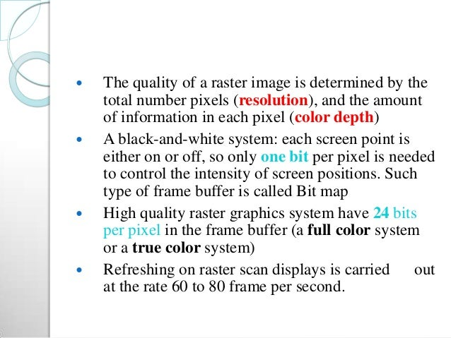 Random scan displays and raster scan displays
