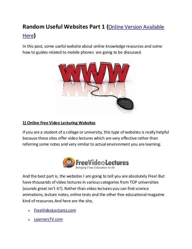 Random useful websites part 1 by go digilife com