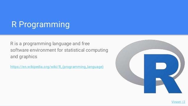 R and Python, A Code Demo Slide 2