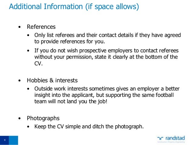 including references in resumes