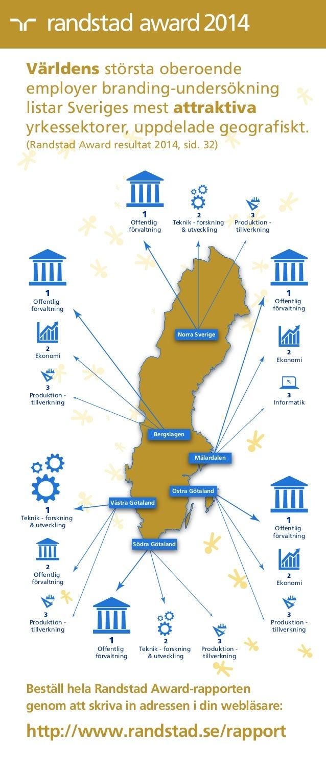 award2014 Stockholm Visby Norra Sverige 1 Offentlig förvaltning 3 Produktion - tillverkning 2 Ekonomi Bergslagen 1 Offentl...