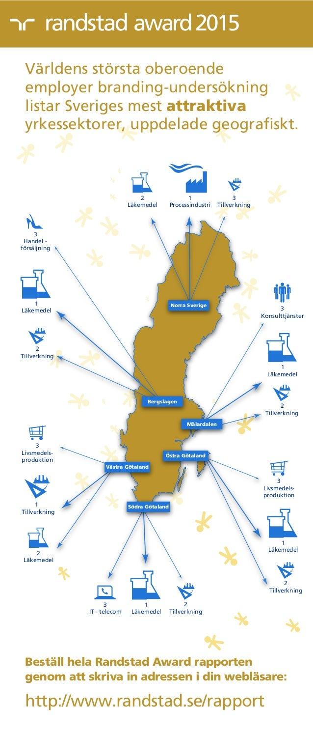 award2015 Stockholm Visby 1 Processindustri 3 Tillverkning Norra Sverige 2 Tillverkning 3 Handel - försäljning Bergslagen ...