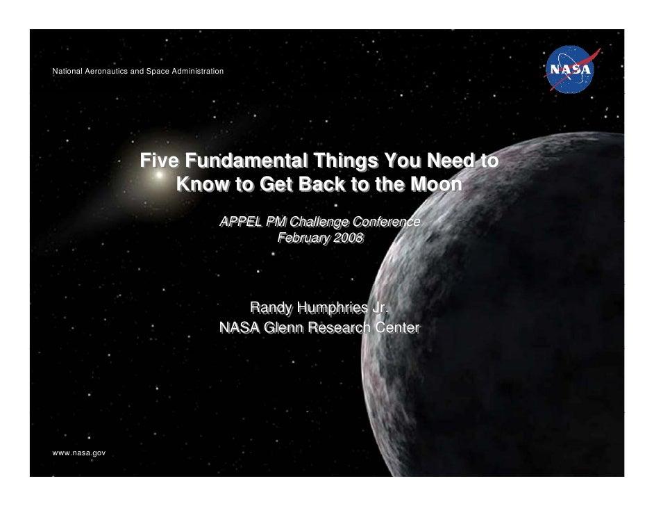 National Aeronautics and Space AdministrationNational Aeronautics and Space Administration                      Five Funda...