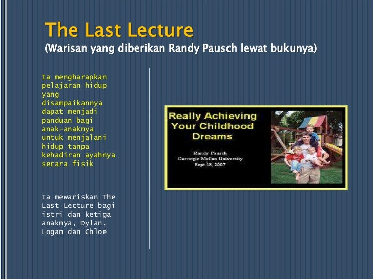 the last lecture by randy pausch pdf