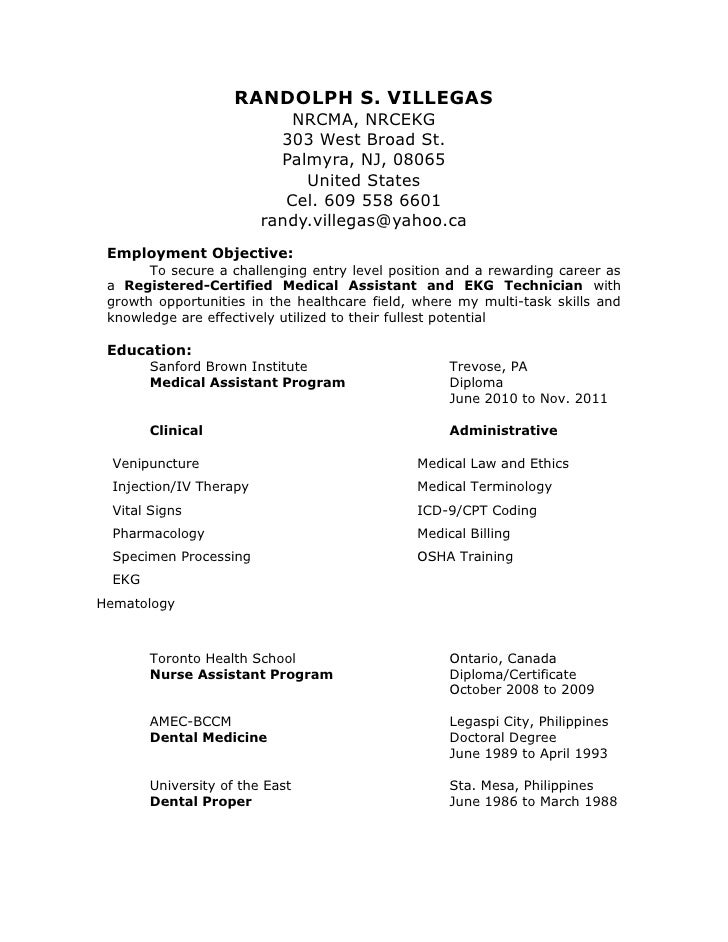 dental assistant student resumes