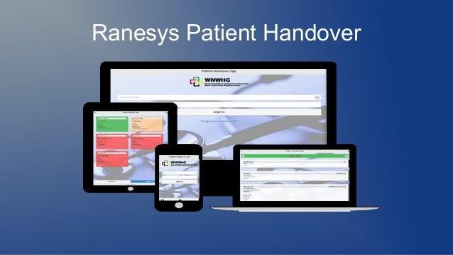 Ranesys Patient Handover