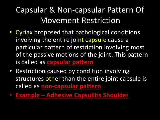 Range Of Motion Assessment Best Capsular Pattern