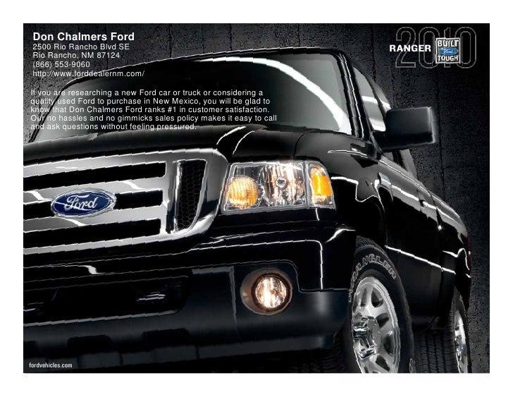 Don Chalmers Ford  2500 Rio Rancho Blvd SE                                            RANGER  Rio Rancho, NM 87124  (866) ...