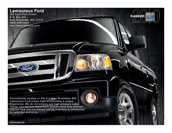 Lamoureux Ford 366 East Main Street P.O. Box 691                                                 RANGER East Brookfield, M...