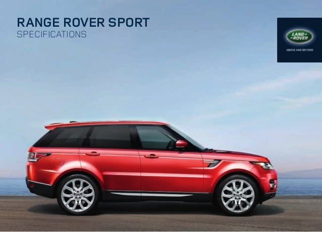 RANGE ROVER SPORT SpecificationS