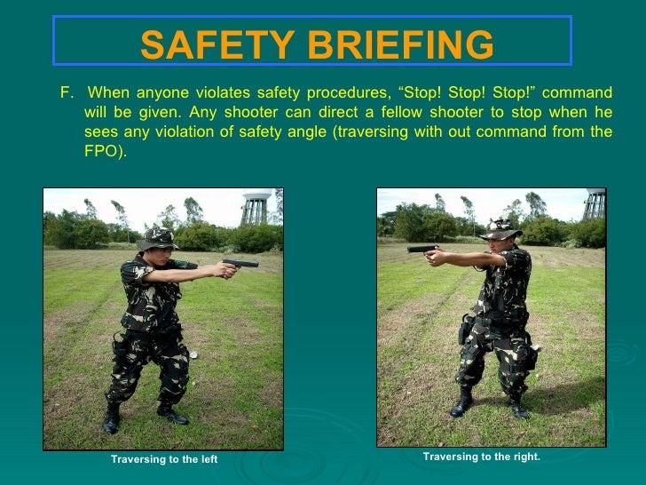 Range safety procedure 14 safety briefing toneelgroepblik Gallery