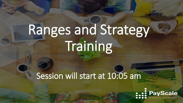 Ranges and Strategy Training Session will start at 10:05 am