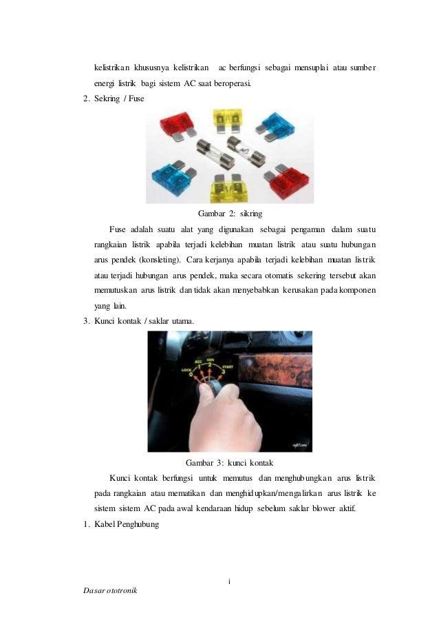 Rangkaian Kelistrikan Lengkap Ac Mobil