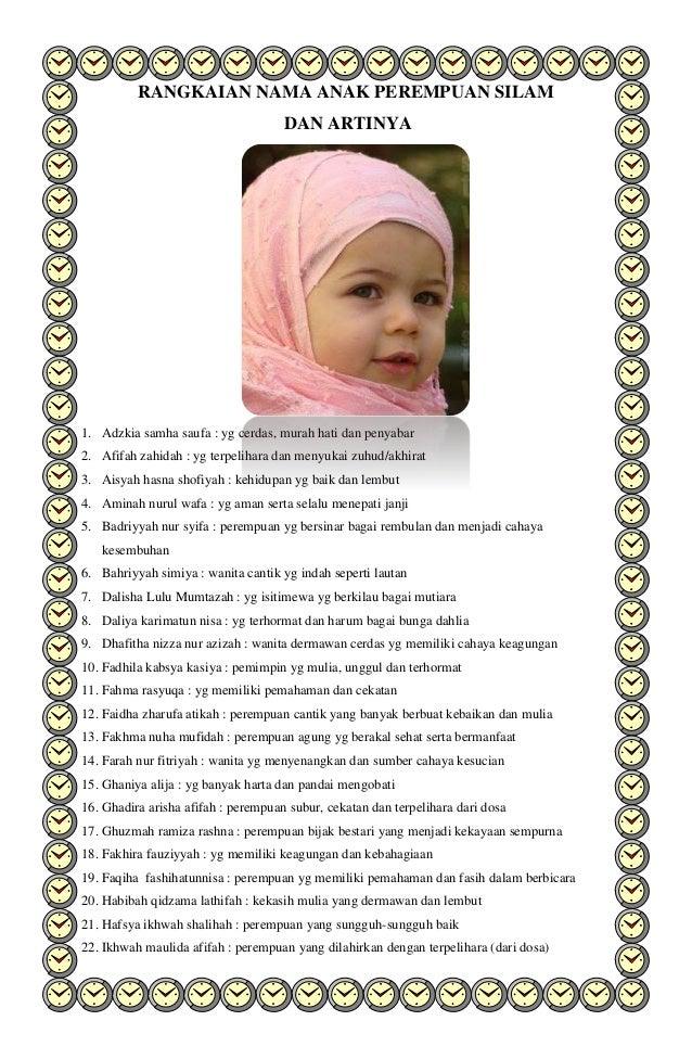 Rangkaian Nama Anak Perempuan Dan Laki Laki Islam Dan Artinya