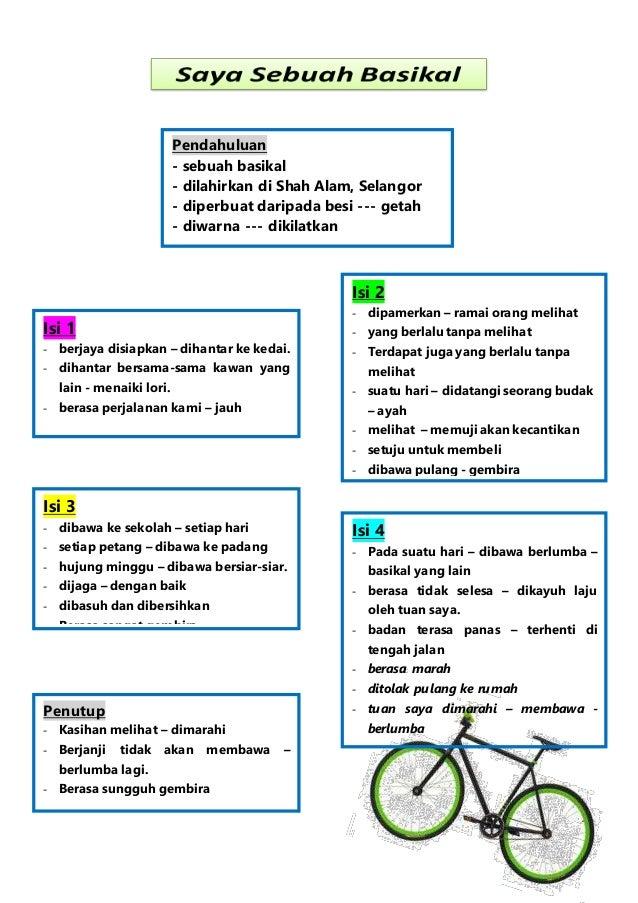 Pendahuluan - sebuah basikal - dilahirkan di Shah Alam, Selangor - diperbuat daripada besi --- getah - diwarna --- dikilat...