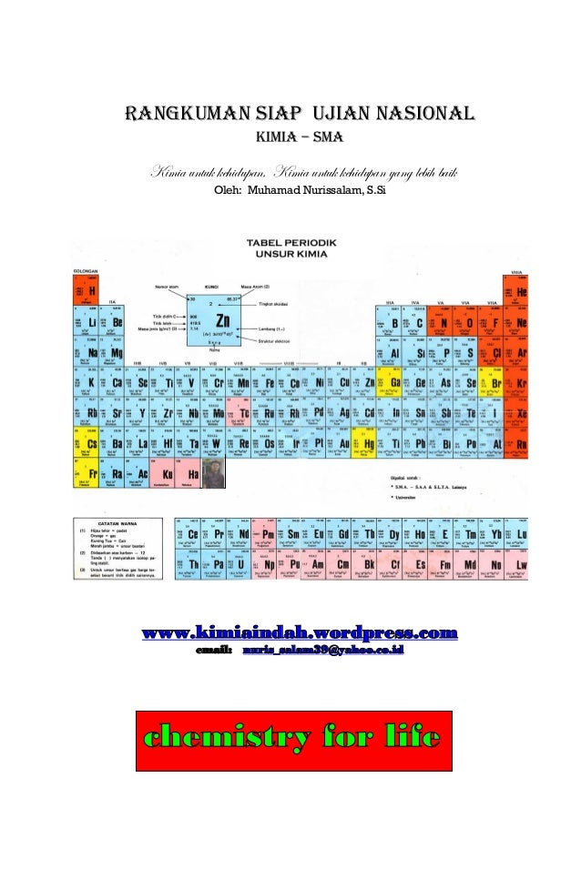 Rangkuman kimia siap un sma urtaz Gallery