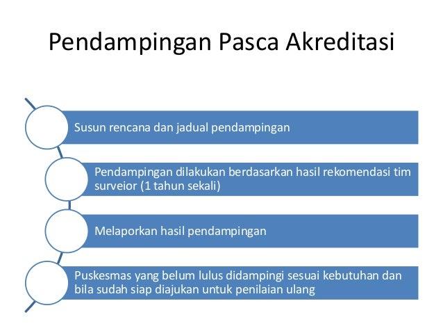 Pendampingan Pasca Akreditasi Susun rencana dan jadual pendampingan Pendampingan dilakukan berdasarkan hasil rekomendasi t...