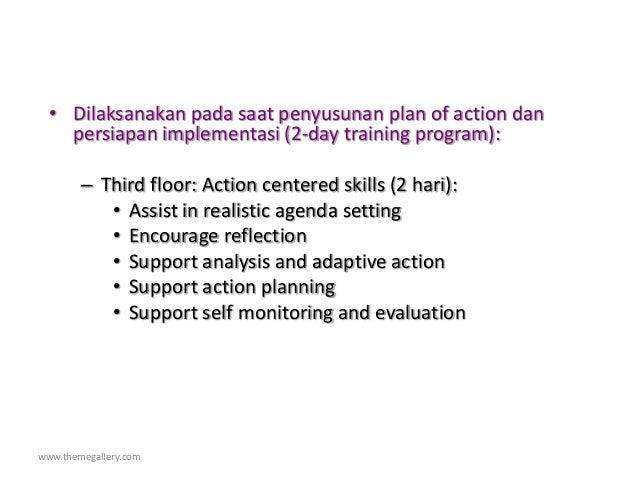 www.themegallery.com • Dilaksanakan pada saat penyusunan plan of action dan persiapan implementasi (2-day training program...