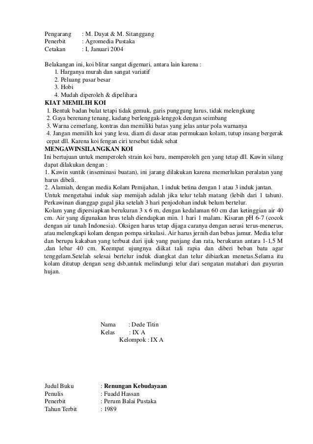Contoh Rangkuman Buku Smp N 1 Ciawi