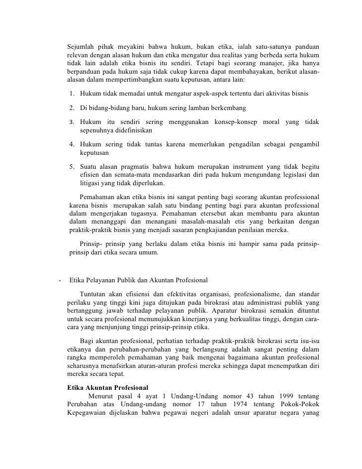 Rangkuman Buku Etika Profesi Stan Kusmanadji