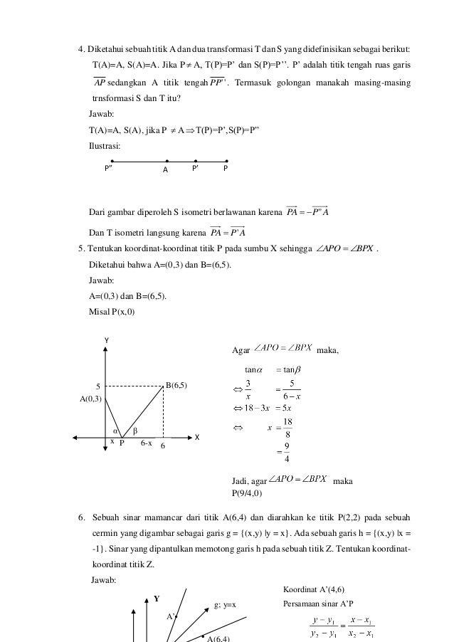 """7. Diketahui garis-garis g dan h dan titik-titik P dan R. Diketahui bila bahwa P'=Mg(P), P""""=Mh(P'), R'=Mg(R), dan R""""=Mh(R)..."""
