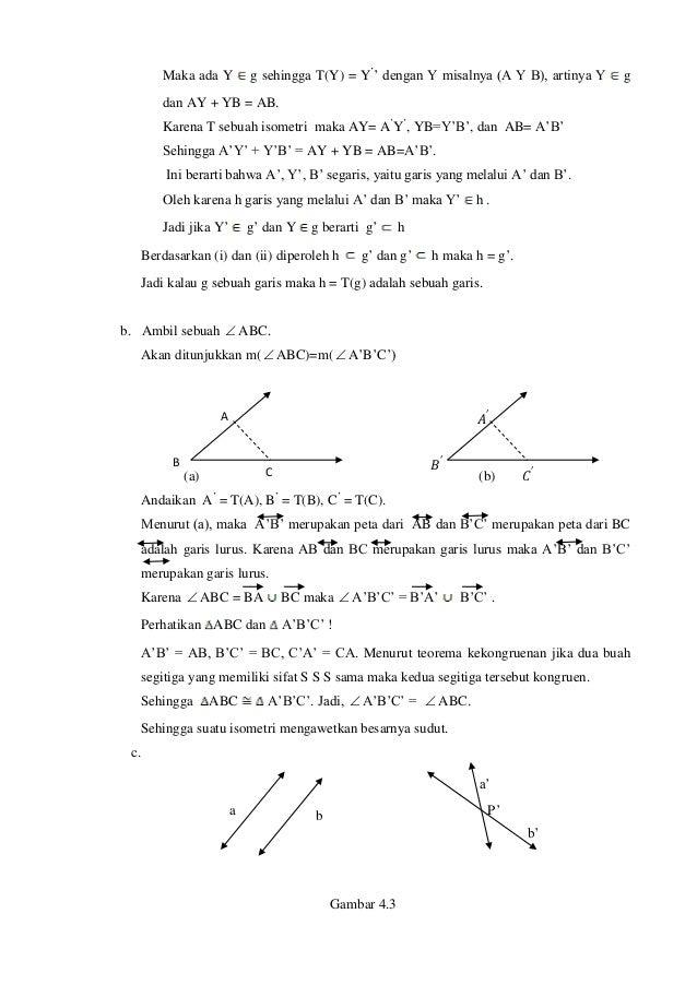 Maka ada Y g sehingga T(Y) = Y' ' dengan Y misalnya (A Y B), artinya Y g dan AY + YB = AB. Karena T sebuah isometri maka A...