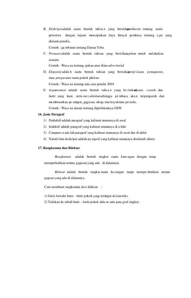 Rangkuman materi un bahasa indonesia smp