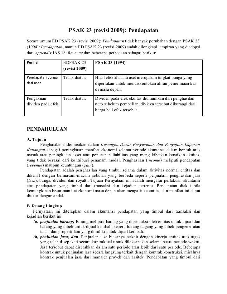 review psak 23 -  pendapatan