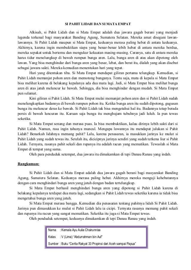 Ringkasan Cerita Dongeng Pendek
