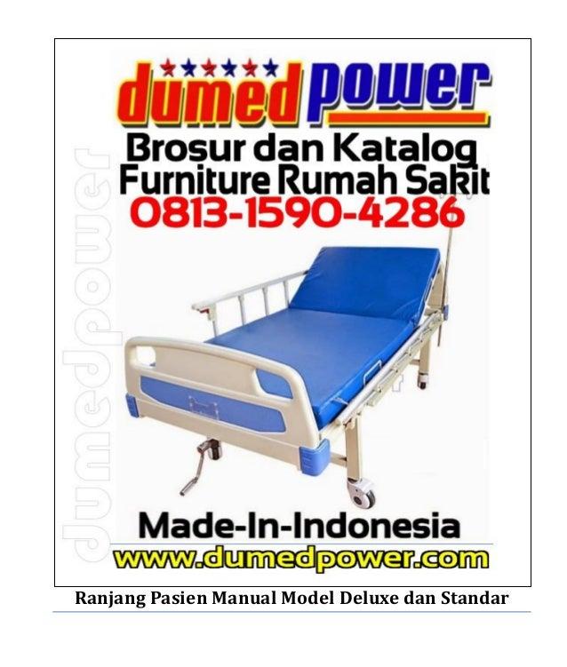Ranjang Pasien Manual Model Deluxe dan Standar