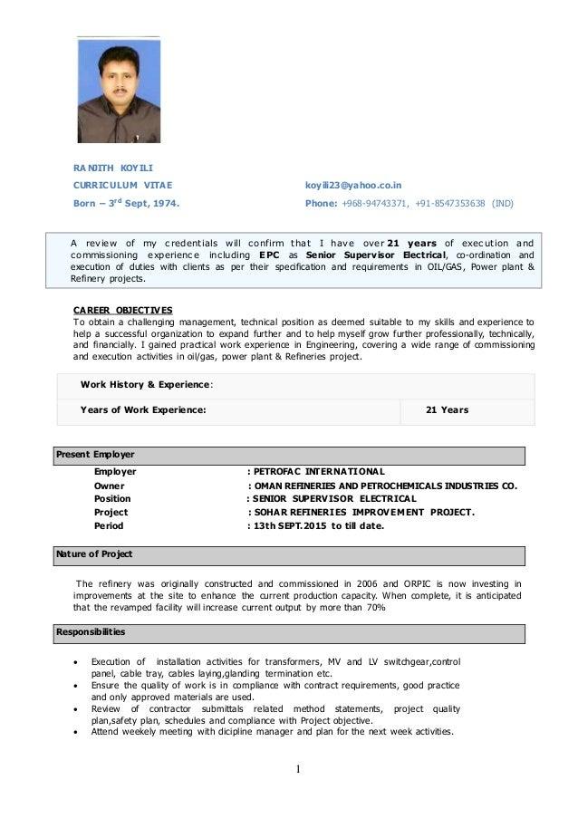 ranjith cv Software Work Plan