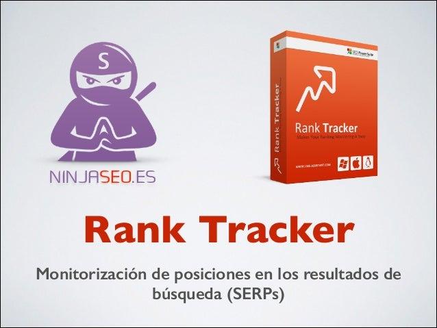 NINJASEO.ES  Rank Tracker Monitorización de posiciones en los resultados de búsqueda (SERPs)