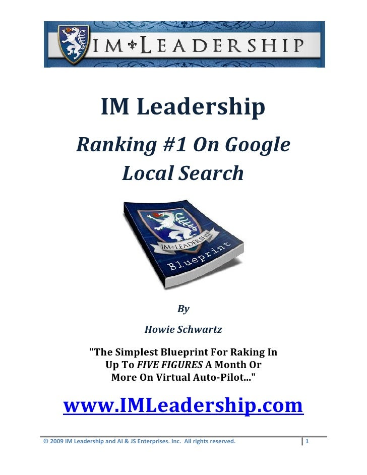 IM Leadership             Ranking #1 On Google                 Local Search                                               ...