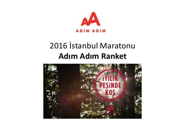 2016İstanbulMaratonu AdımAdımRanket