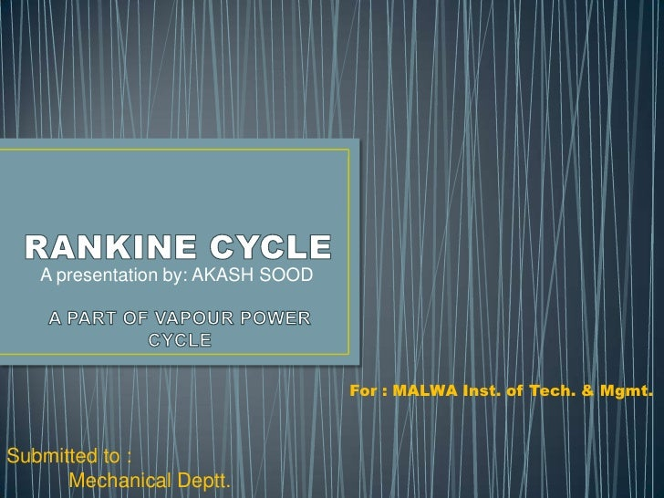 A presentation by: AKASH SOOD                                   For : MALWA Inst. of Tech. & Mgmt.Submitted to :      Mech...