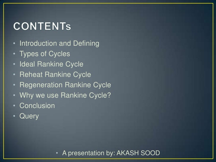 Rankine cycle Slide 2