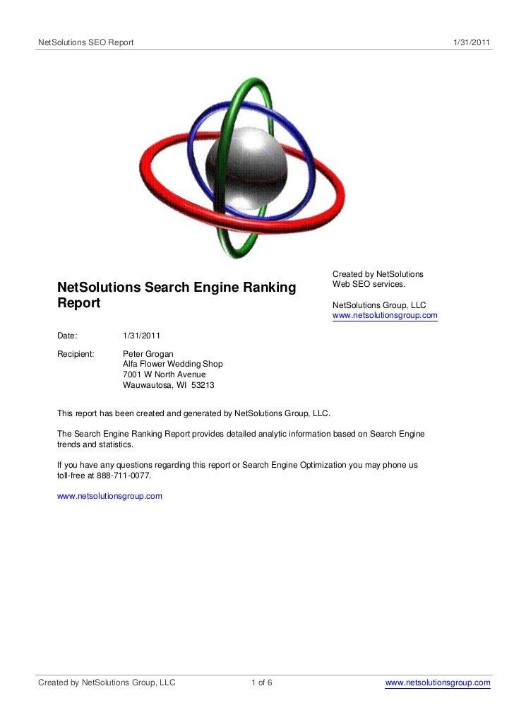 NetSolutions SEO Report                                                                                   1/31/2011       ...