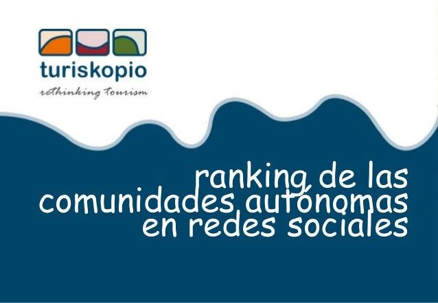 ranking de las comunidades autónomas en redes sociales