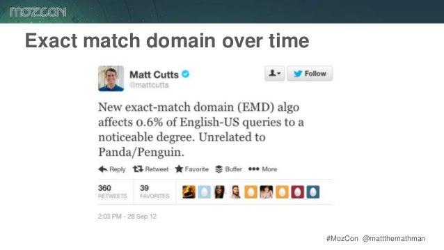 #MozCon @mattthemathman55 Exact match domain over time