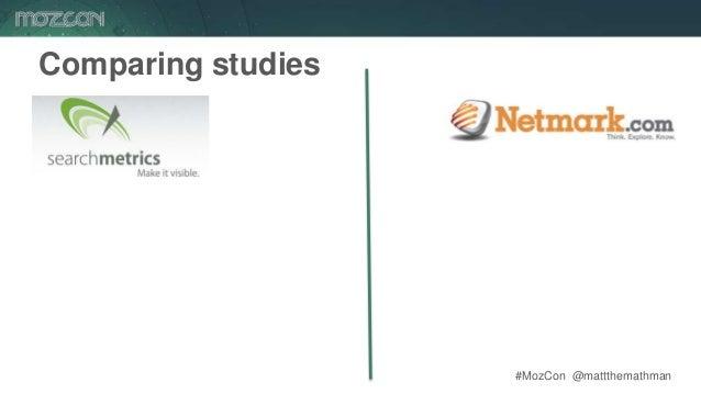 #MozCon @mattthemathman66 Comparing studies