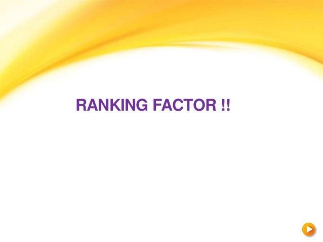 RANKING FACTOR !!