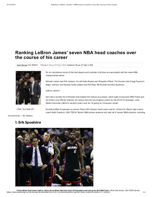 24a288f1c59 Ranking LeBron James' seven NBA head coaches over the course of his career