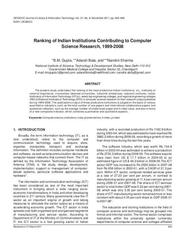 DESIDOC Journal of Library & Information Technology, Vol. 31, No. 6, November 2011, pp. 460-468© 2011, DESIDOC            ...