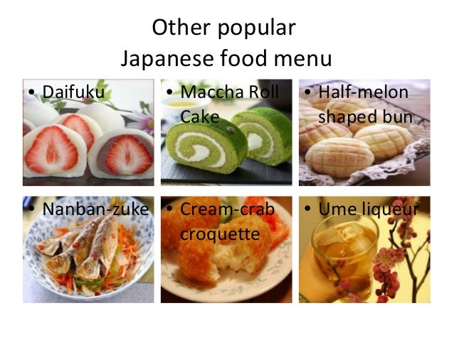 Ranking of japanese foods