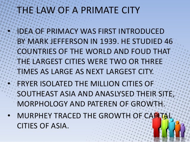Rank size rule and primate city concept