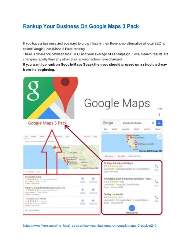 Rankup your business on google maps 3 pack