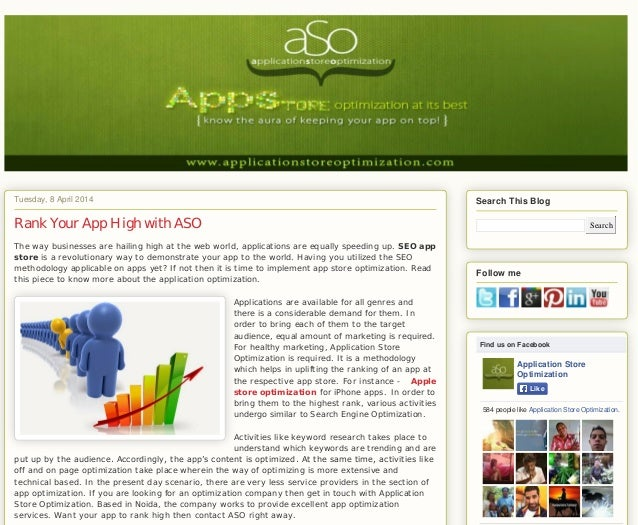 Older PostHome Subscribe to: Post Comments (Atom) Tuesday, 8 April 2014 Posted by Application Store Optimization at 23:39 ...