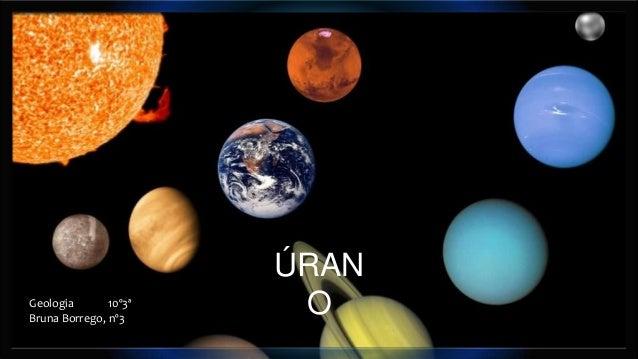 Geologia 10º3ª Bruna Borrego, nº3  ÚRAN O