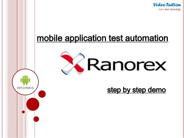 mobile application test automation step by step demo Video Tuition Let's share knowledge