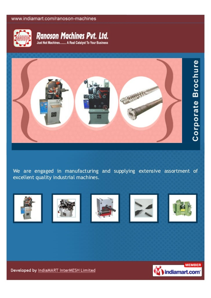 We are engaged in manufacturing and supplying extensive assortment ofexcellent quality industrial machines.